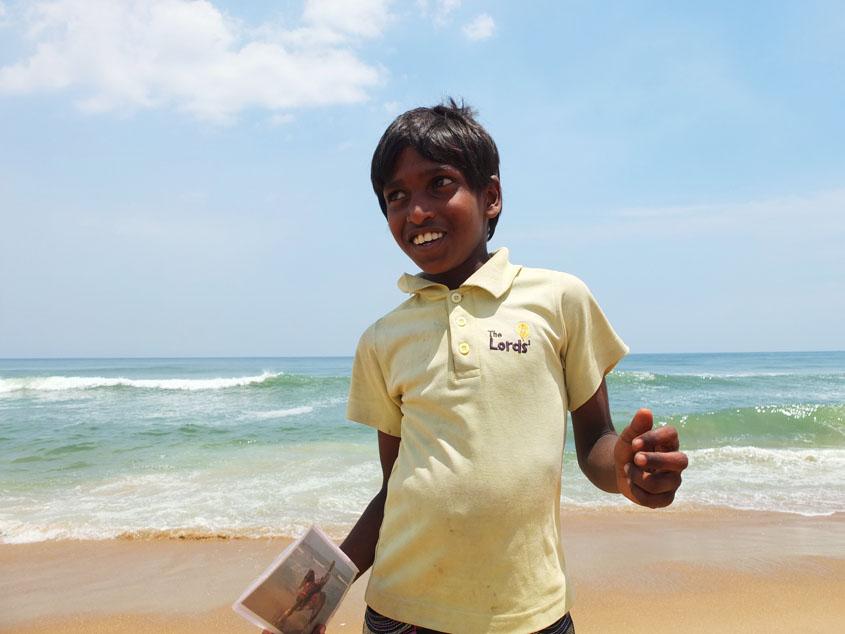 インドの東、ベンガル湾を眺める