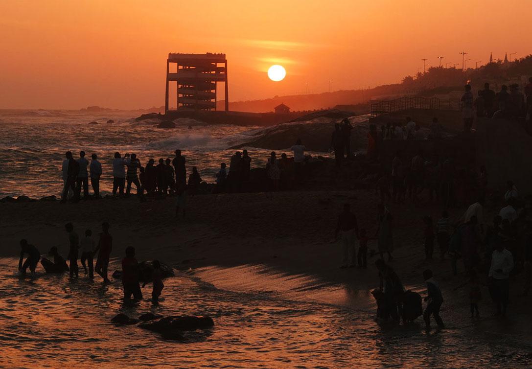 インドの最果て、3つの海が交わる地
