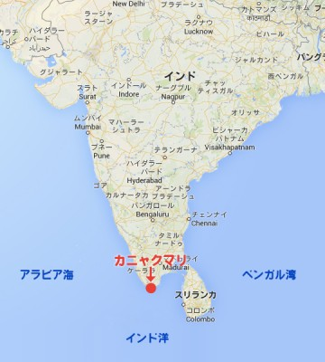 kanyakumari_map